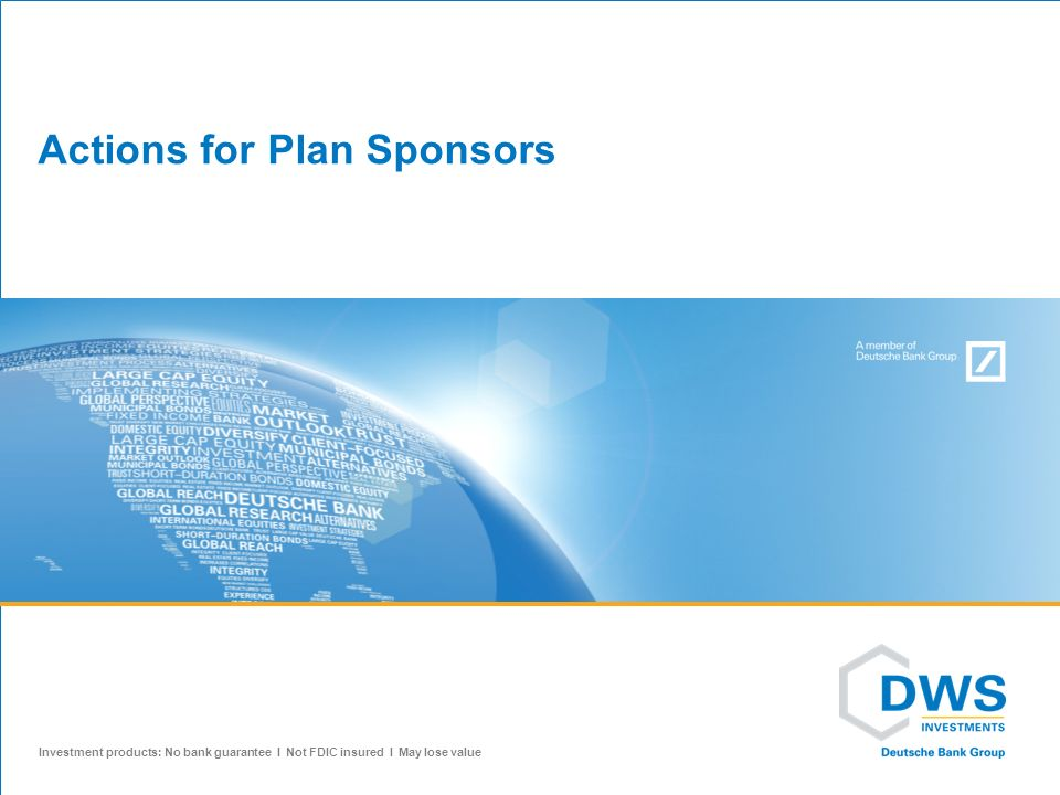 Actions for Plan Sponsors