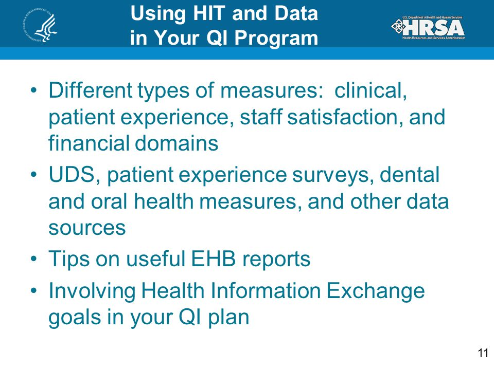 Using HIT and Data in Your QI Program