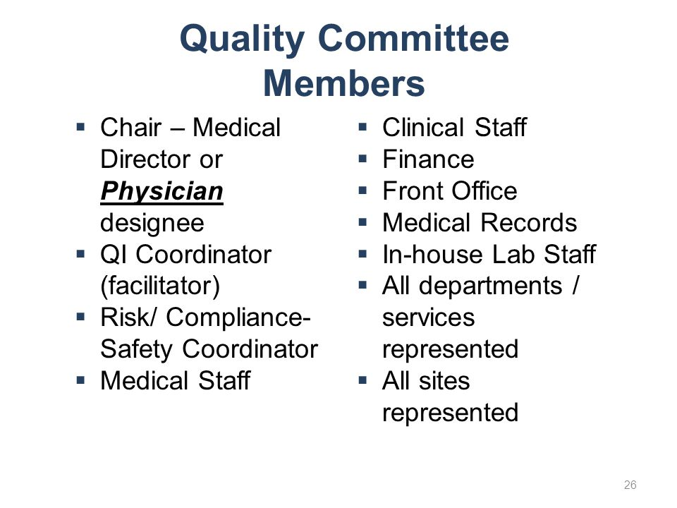 Quality Committee Members