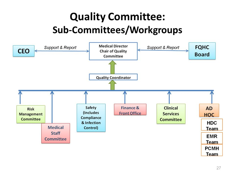 Quality Committee: Sub-Committees/Workgroups