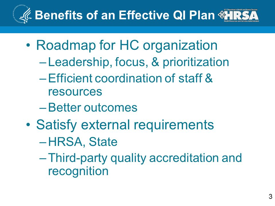 Benefits of an Effective QI Plan