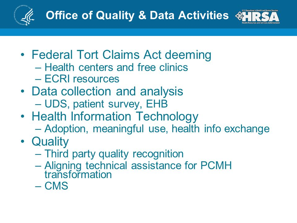 Office of Quality & Data Activities