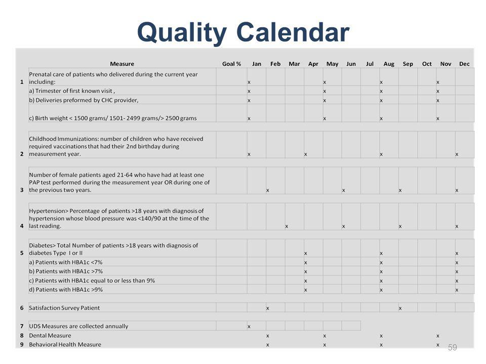 Quality Calendar