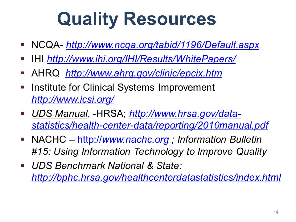 Quality Resources NCQA-