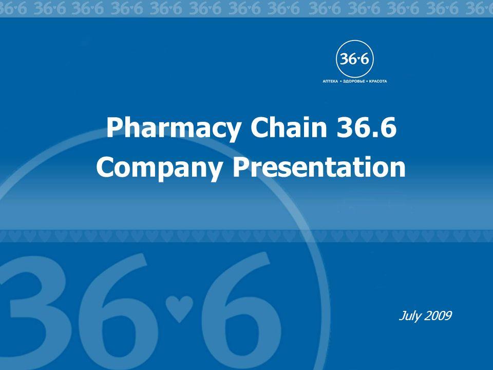 Pharmacy Chain 36.6 Company Presentation