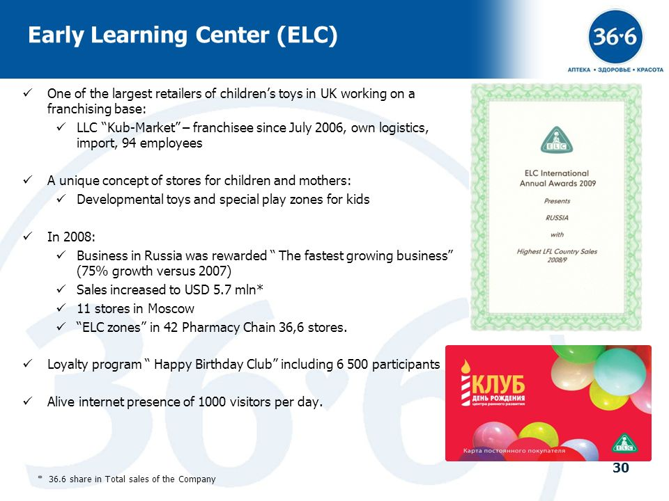 Early Learning Center (ELC)