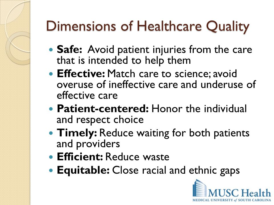 Dimensions of Healthcare Quality