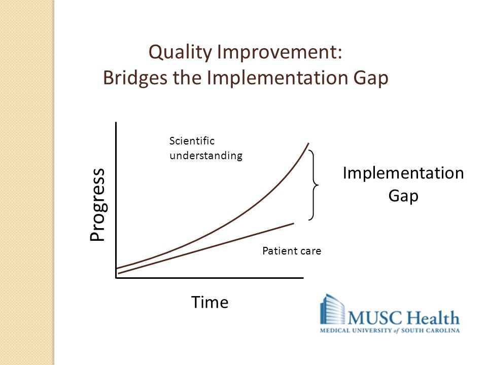 Quality Improvement: Bridges the Implementation Gap