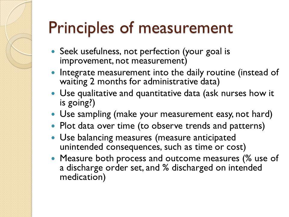 Principles of measurement
