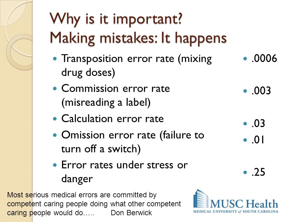 Why is it important Making mistakes: It happens