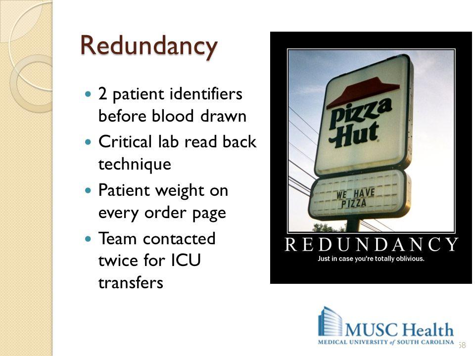 Redundancy 2 patient identifiers before blood drawn