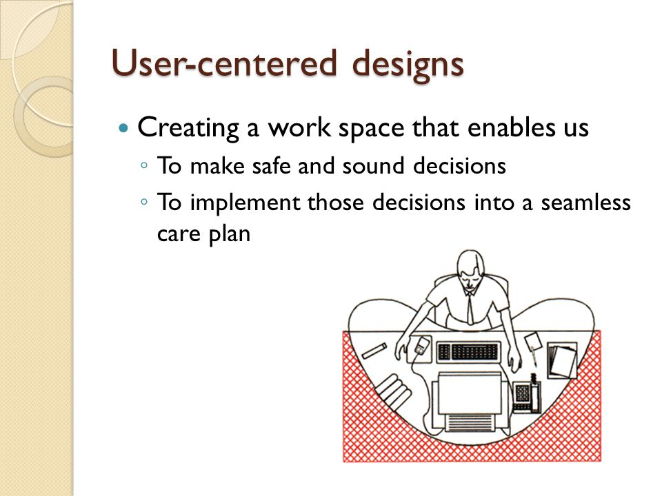 User-centered designs