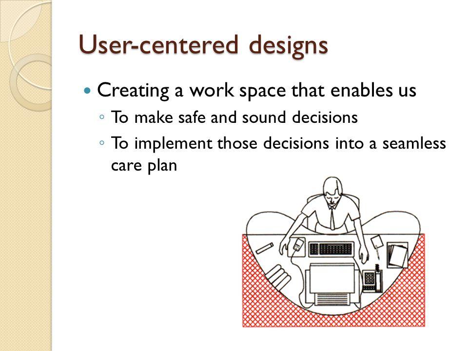User-centered designs
