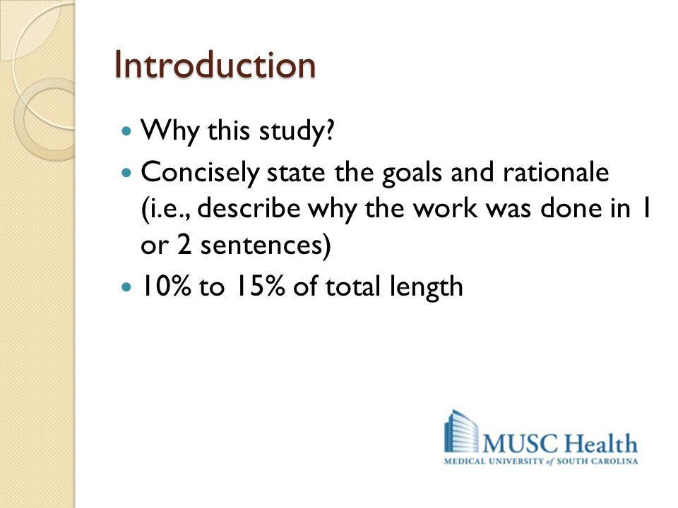 Introduction Why this study