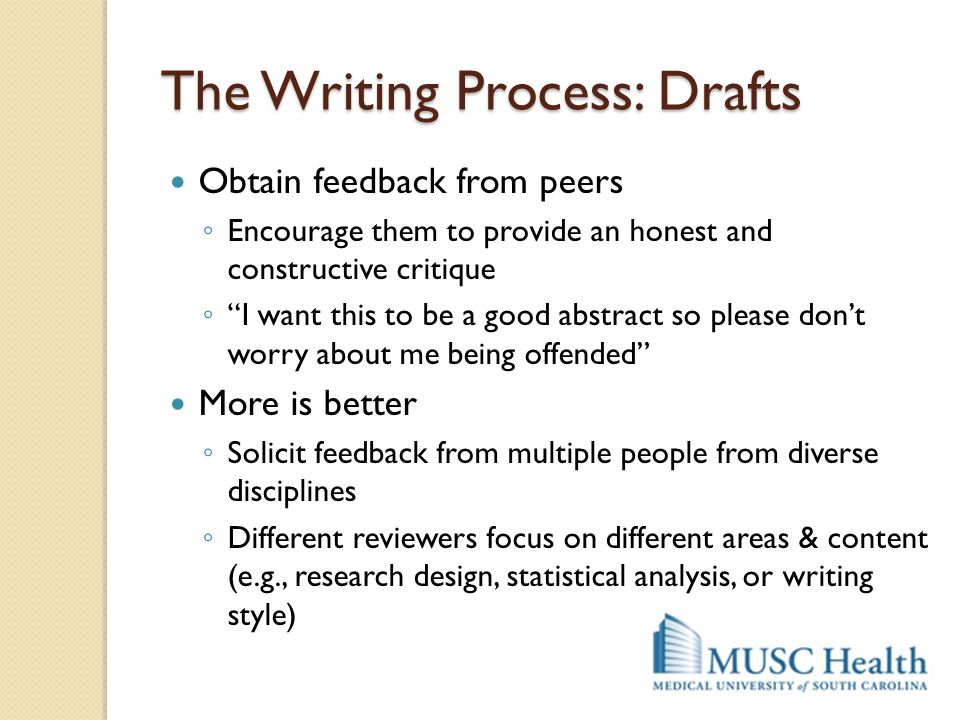 The Writing Process: Drafts