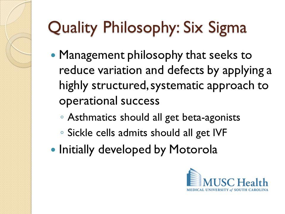 Quality Philosophy: Six Sigma