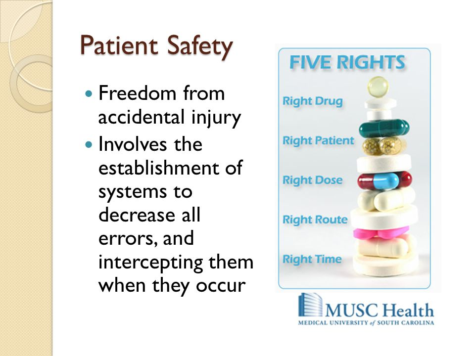 Patient Safety Freedom from accidental injury