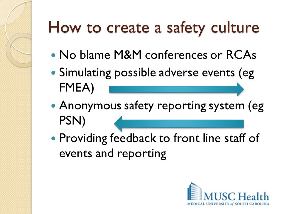 How to create a safety culture