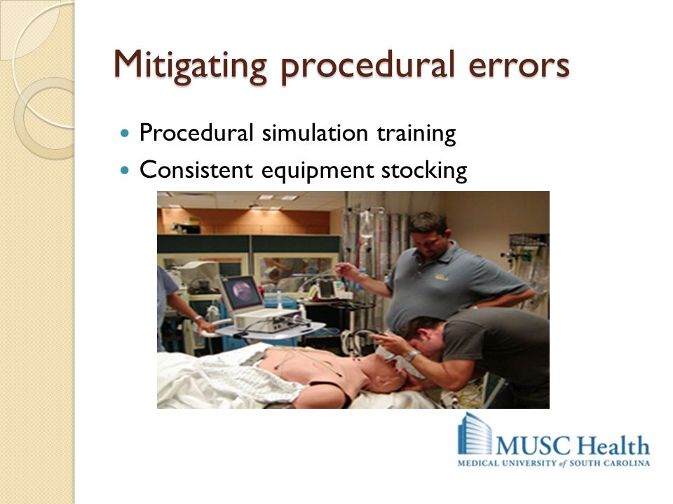 Mitigating procedural errors