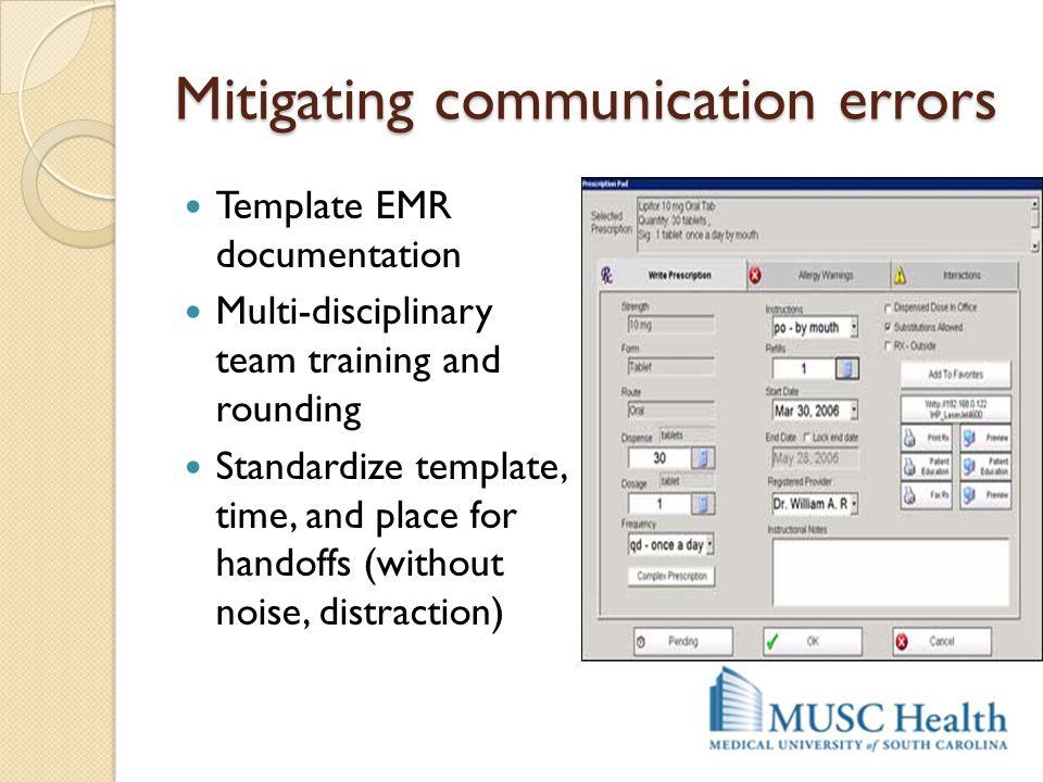 Mitigating communication errors