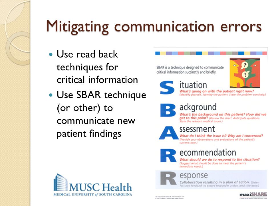 Mitigating communication errors