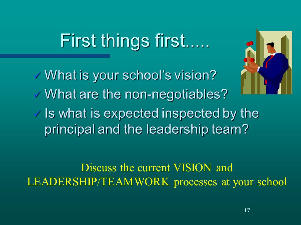 First things first..... What is your school's vision