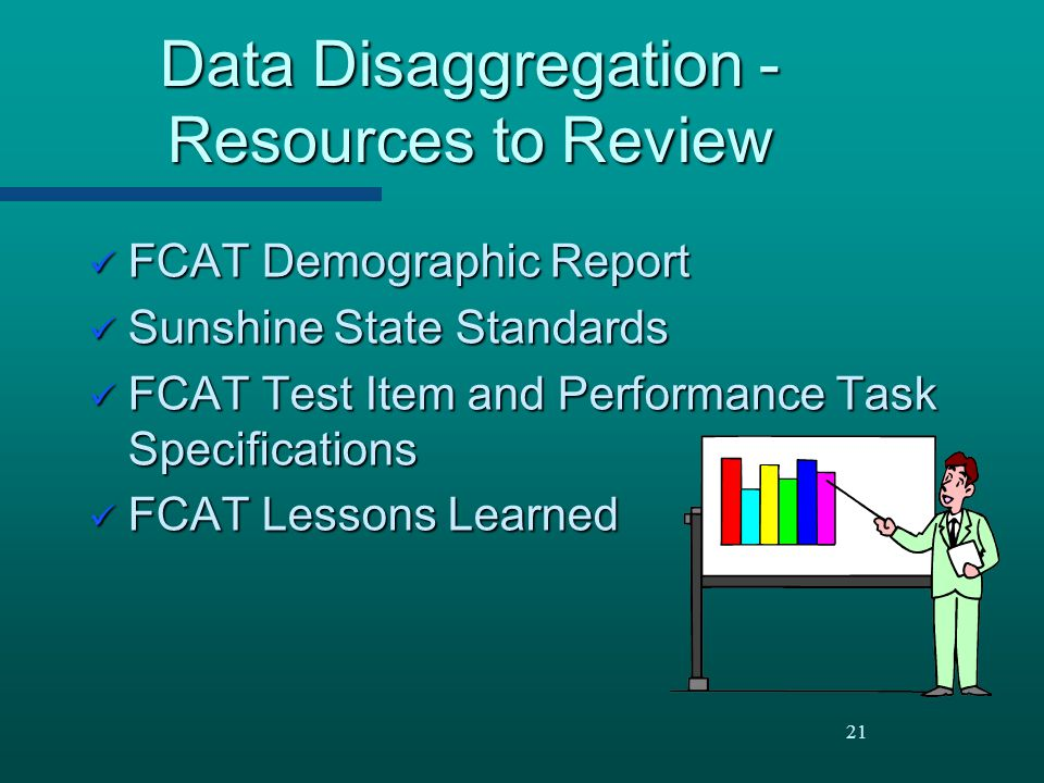 Data Disaggregation - Resources to Review