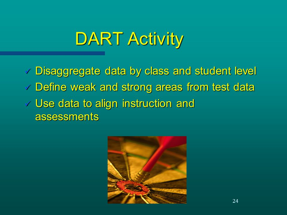 DART Activity Disaggregate data by class and student level