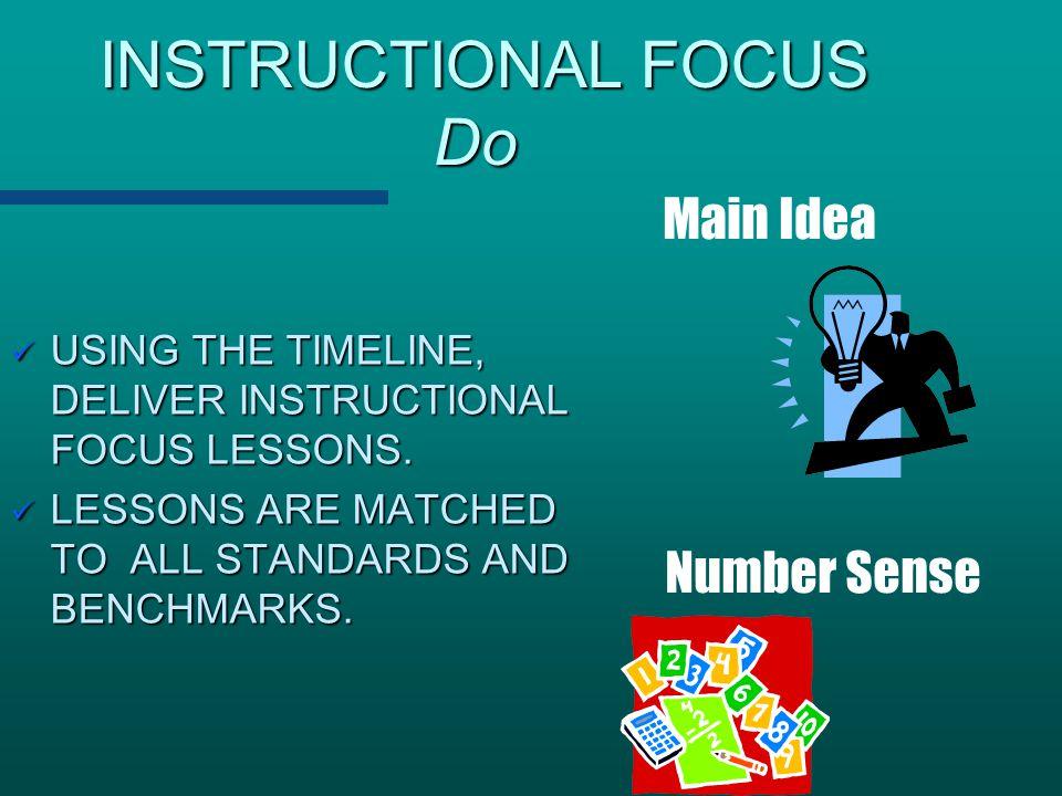 INSTRUCTIONAL FOCUS Do
