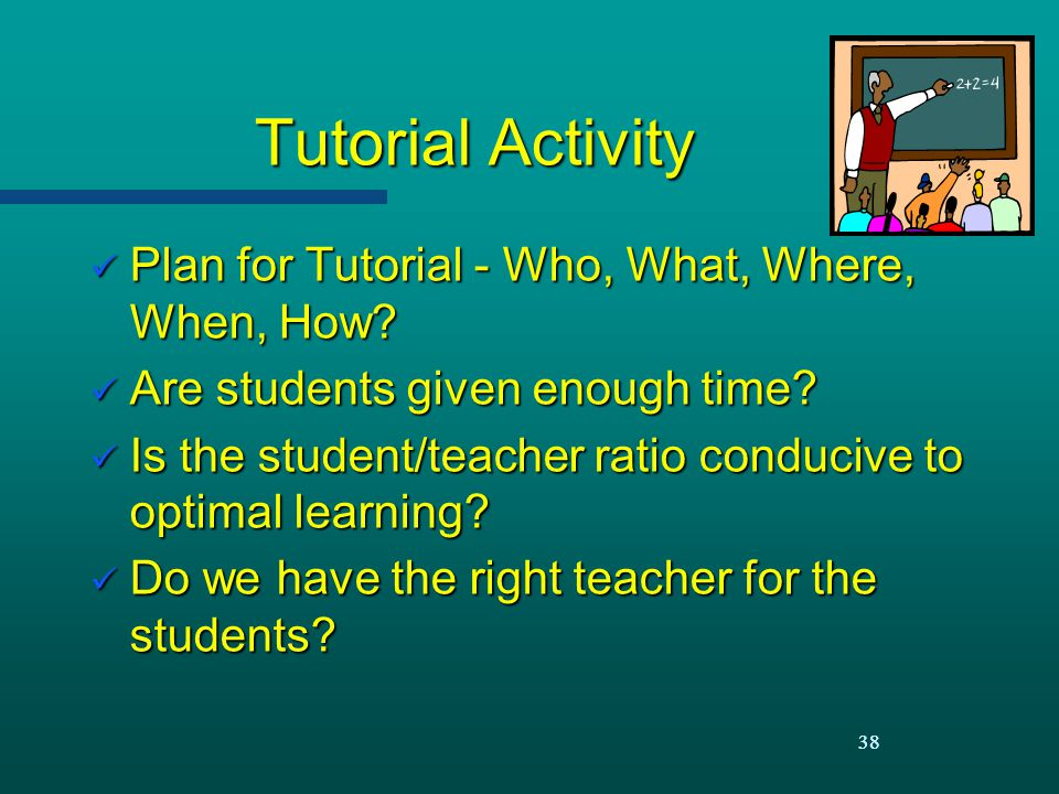 Tutorial Activity Plan for Tutorial - Who, What, Where, When, How