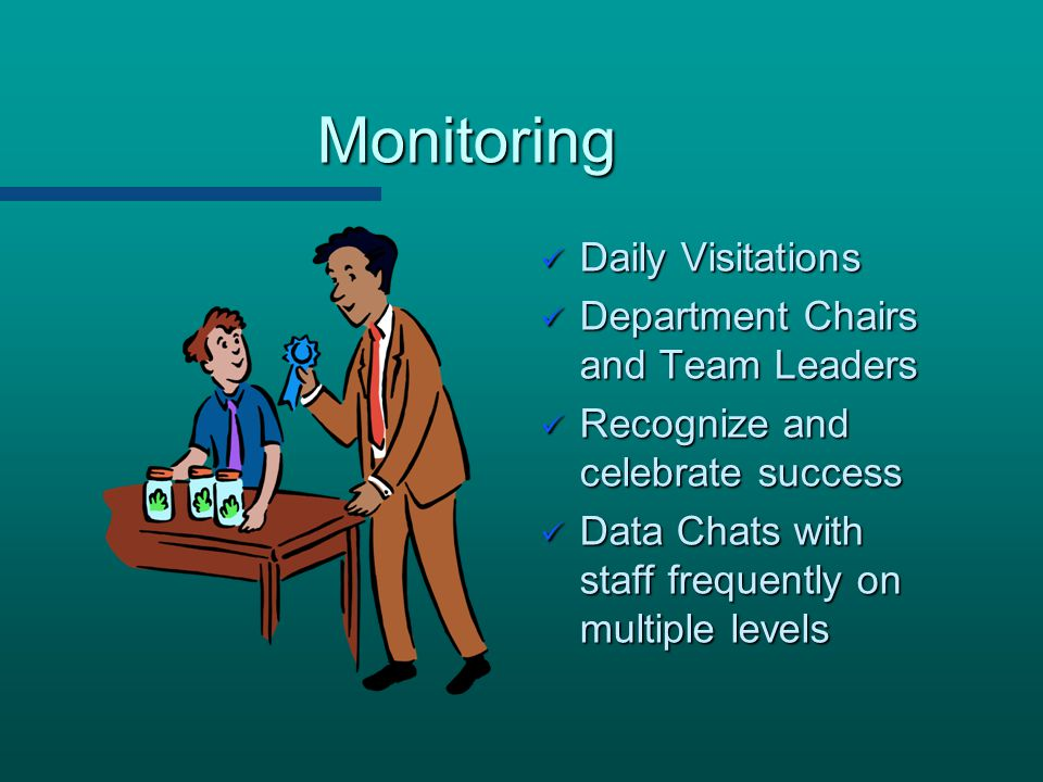 Monitoring Daily Visitations Department Chairs and Team Leaders