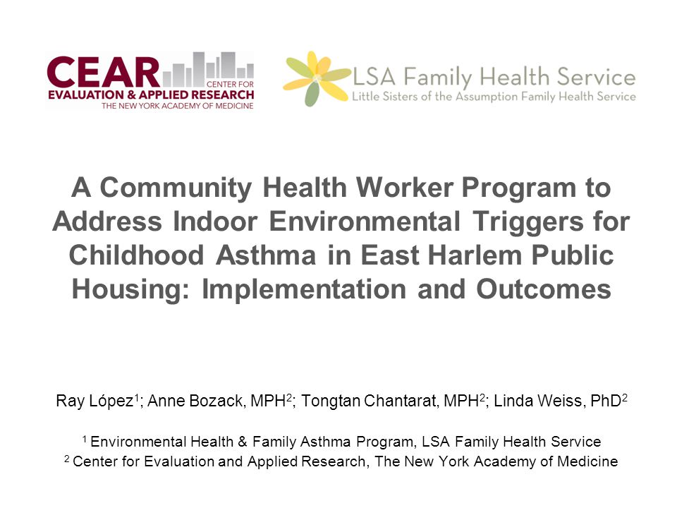 A Community Health Worker Program to Address Indoor Environmental Triggers for Childhood Asthma in East Harlem Public Housing: Implementation and Outcomes