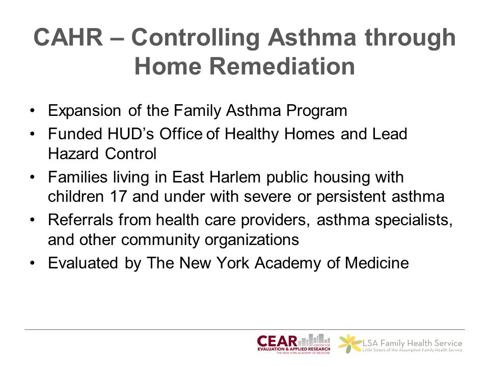 CAHR – Controlling Asthma through Home Remediation