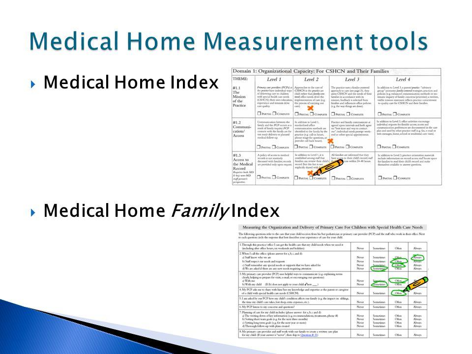 Medical Home Measurement tools