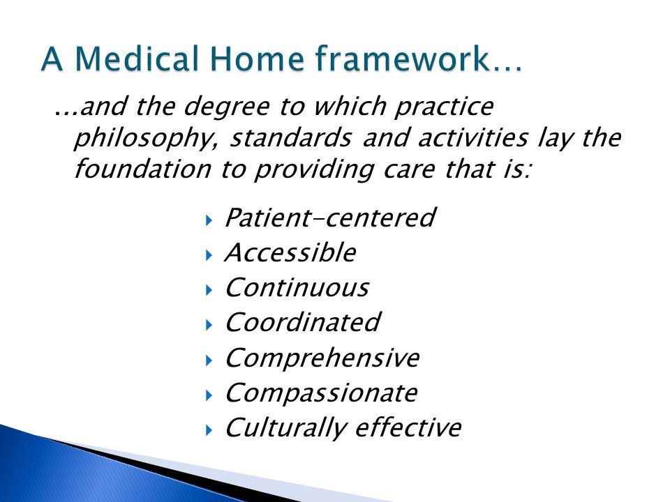A Medical Home framework…