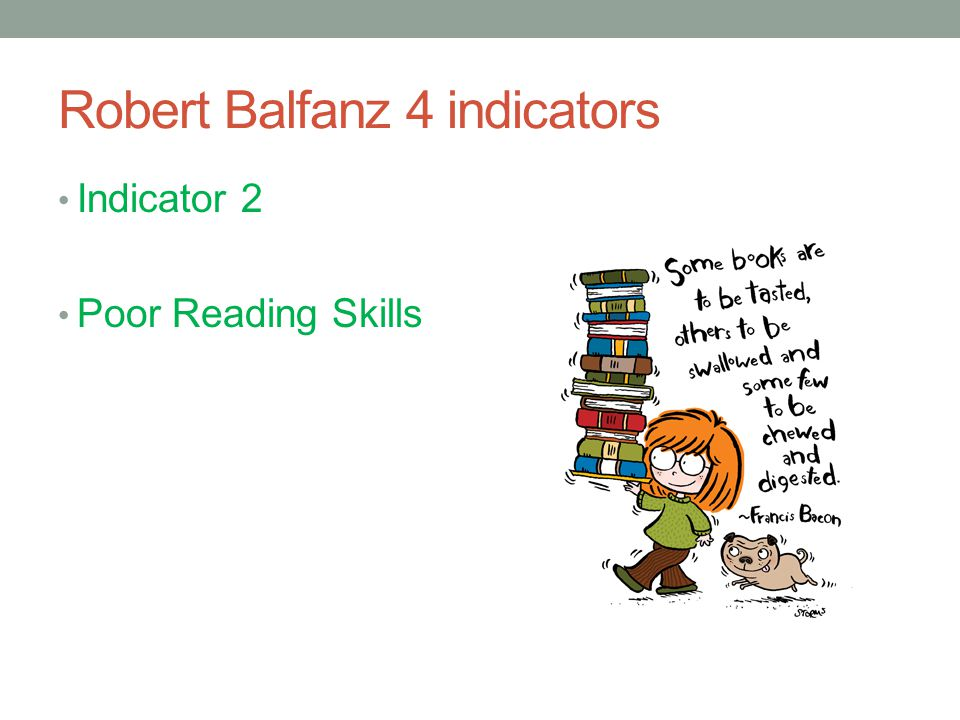 Robert Balfanz 4 indicators