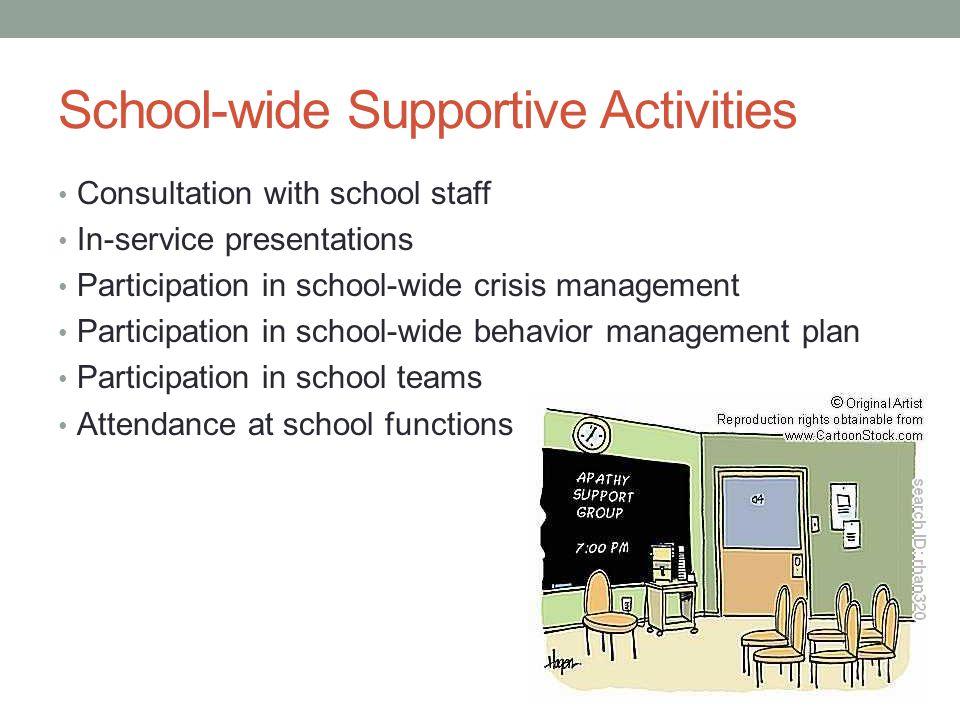 School-wide Supportive Activities