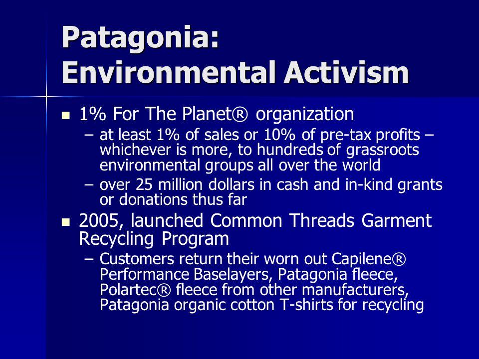 Patagonia: Environmental Activism