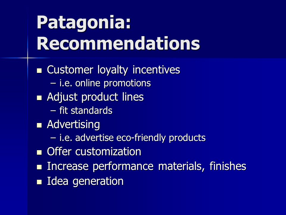 Patagonia: Recommendations