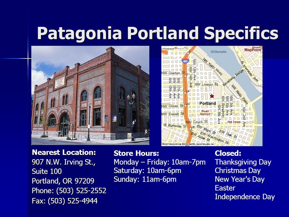 Patagonia Portland Specifics