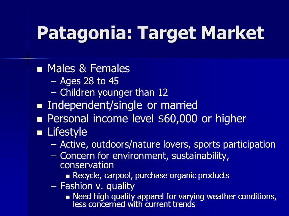 Patagonia: Target Market