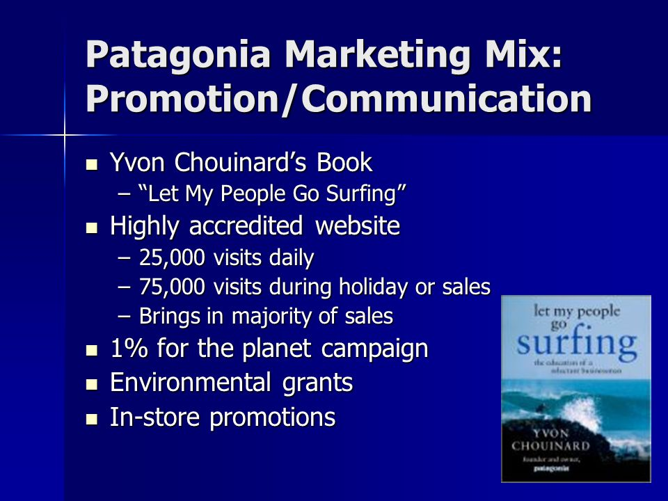 Patagonia Marketing Mix: Promotion/Communication