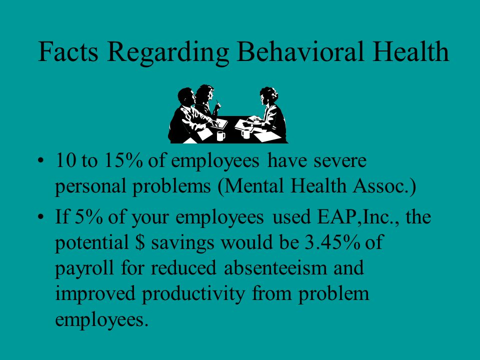 Facts Regarding Behavioral Health