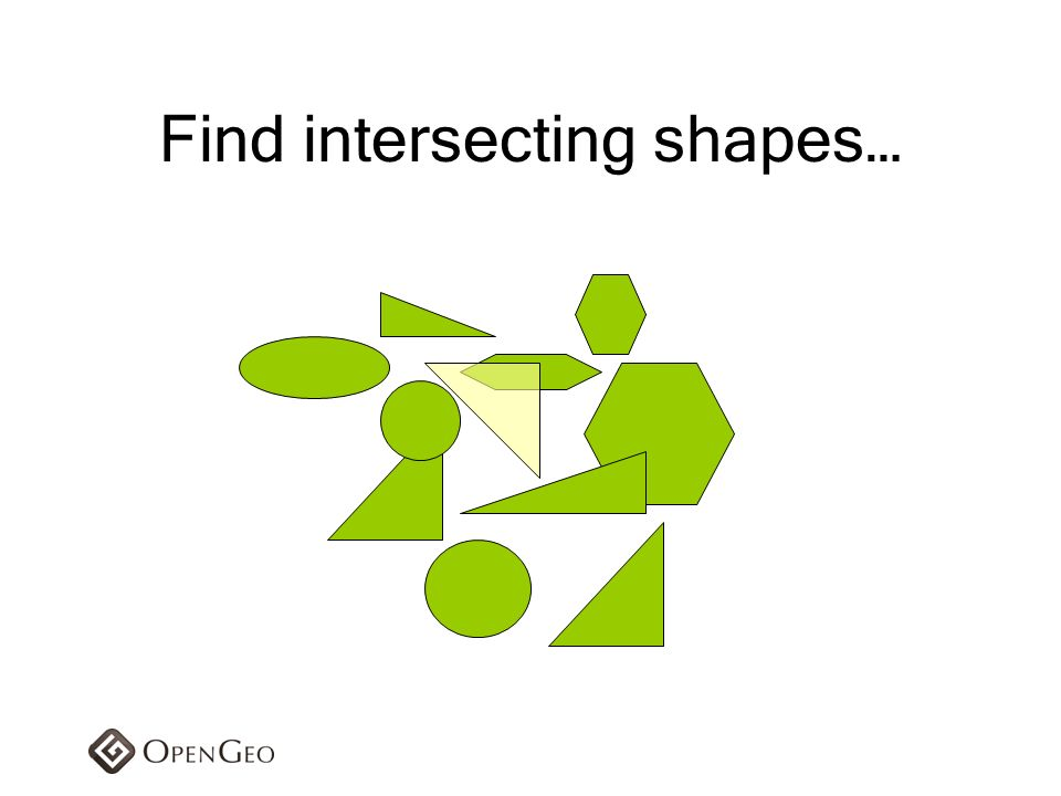 Find intersecting shapes…