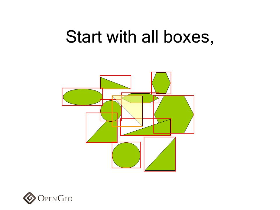 Start with all boxes,