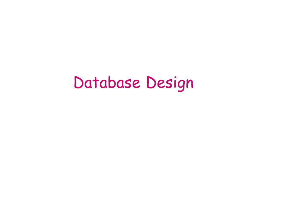 Database Design The process of finding user requirement