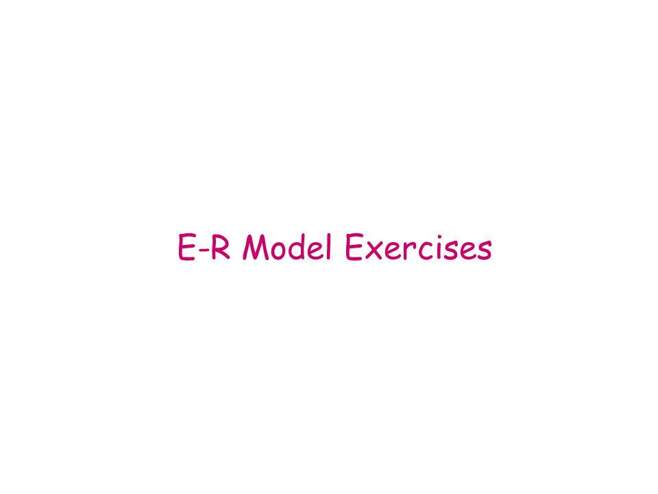 E-R Model Exercises