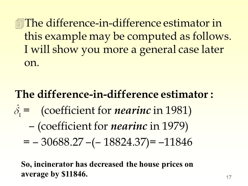 The difference-in-difference estimator :