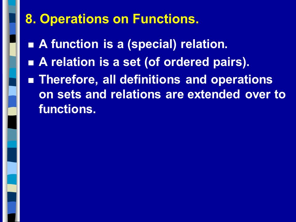 8. Operations on Functions.