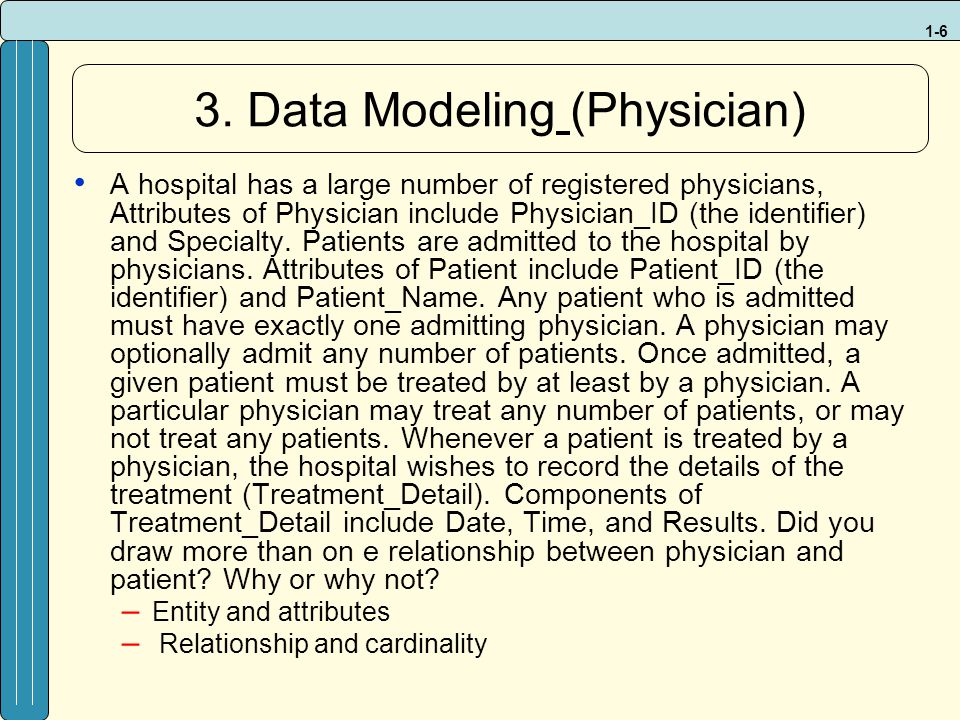 3. Data Modeling (Physician)